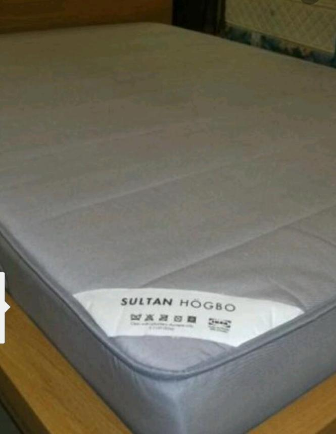 Free Delivery Sultan Högbo Double Mattress Nearly New 3 Months Old
