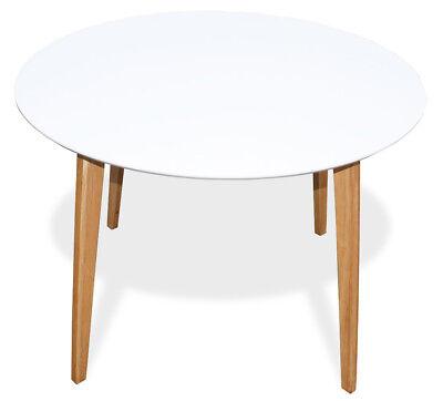 KMH® Esstisch Ø 105 cm weiss Esszimmertisch Küchentisch Holztisch Tisch rund