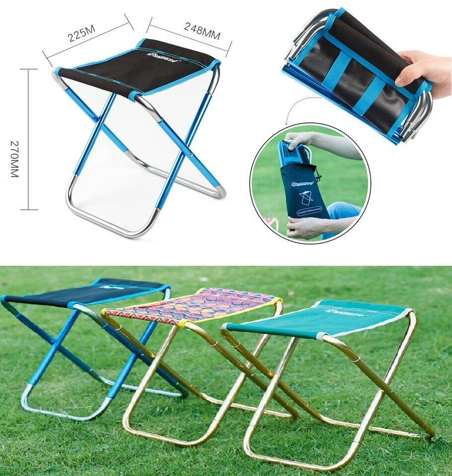 Folding Chairs Outdoor Mini Portable Camping Fishing Picnic Small Stool Seat Us Ebay