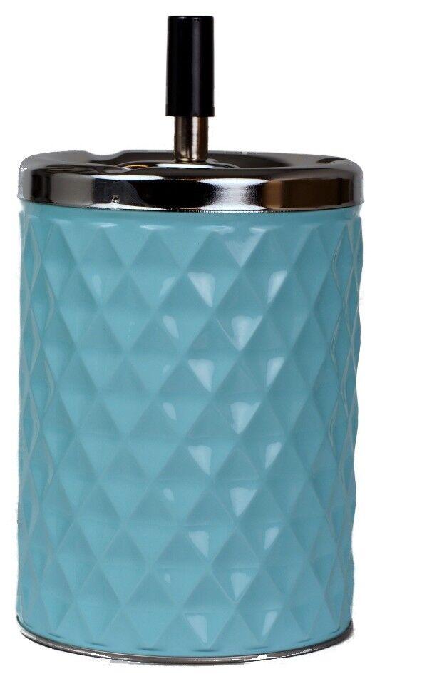 XXL Drehascher Aschenbecher Diamant blau