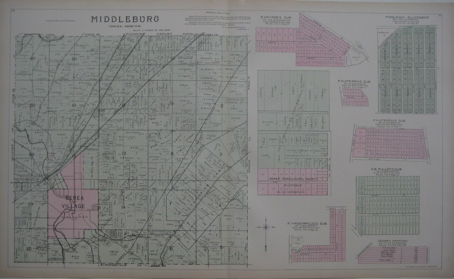 Map Berea Ohio Brook Park Middleburgh Heights