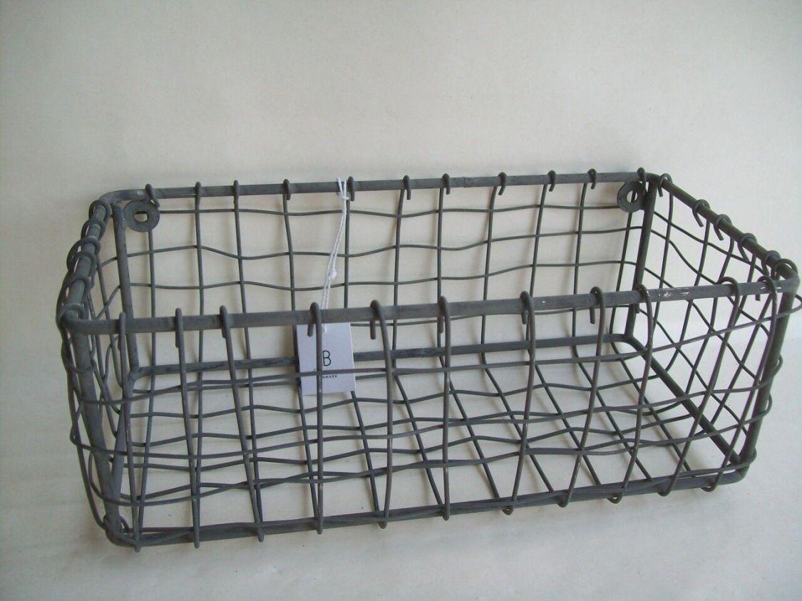 Wandkorb Ib Laursen Korb Hängekorb Draht 5928-18 rechteckig zink Metall