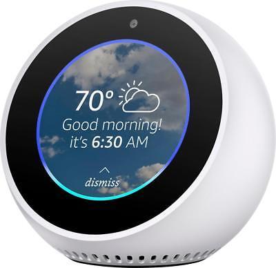 Amazon - Echo Spot - Smart Speaker with Alexa - White