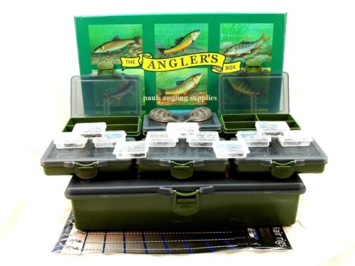 Carp-Fishing-Tackle-Box-Hooks-Swivels-Hair-Rigs-Clips-Feeders