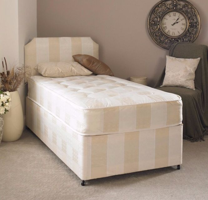 3ft Single Deep Quilt Divan Bed With Mattress Free Next Day Delivery Es London