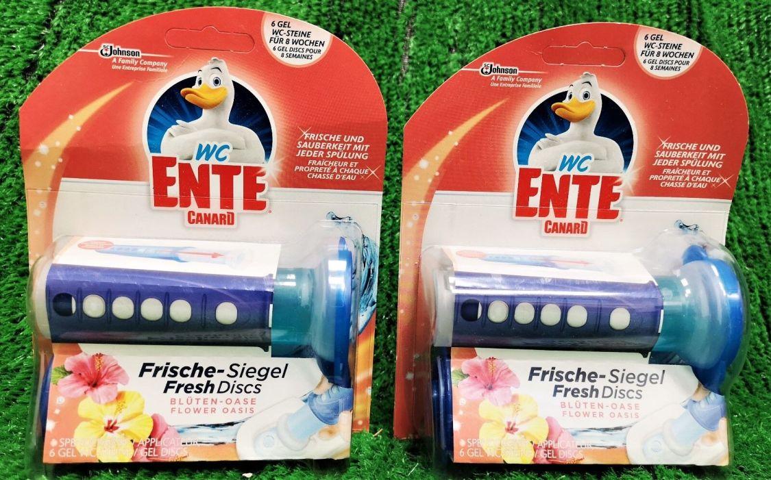 (12,36€/100g) 2x WC Ente Frische GEL Siegel BLÜTEN OSASE Kit (12Siegel) Vers.0€