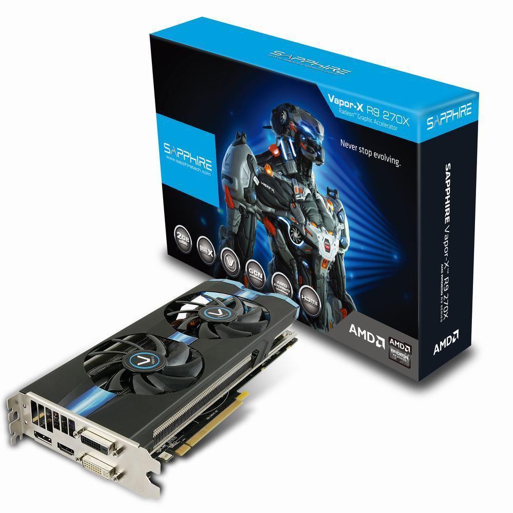 Sapphire Vapor-X Radeon R9 270X OC | 2GB GDDR5 | GAMING Grafikkarte