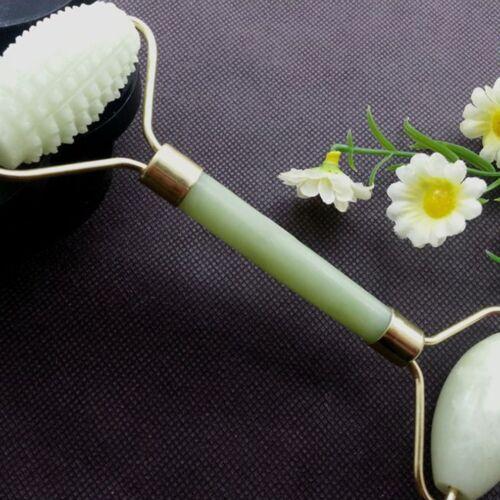 Natural Jade Stone Face Neck Massage Roller Beauty Tool Acupressure Massager RE