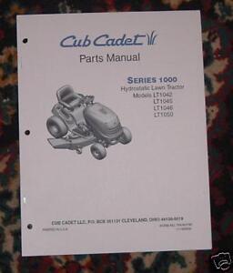 Cub Cadet LT1045 Parts Manual with Diagrams   eBay