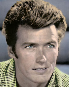 """CLINT EASTWOOD DIRTY HARRY ACTOR DIRECTOR PRODUCER 8x10"""" HAND COLOR TINTED PHOTO"""