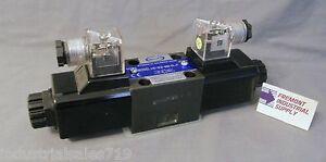 D03 hydraulic solenoid valve 4 way 3 position closed