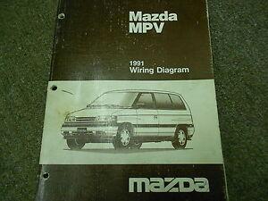 1991 Mazda MPV VAN Electrical Wiring Diagram Service