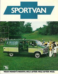 1976 Chevrolet Van SPORTVAN Brochure: G10, G20, G30, G10