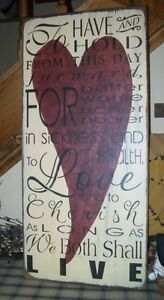 PRIMITIVE VALENTINE SIGNTO HAVE AND TO HOLD FROM THIS DAY