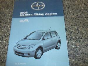 2005 TOYOTA Scion xA Electrical Wiring Diagram Service Shop Repair Manual EWD   eBay