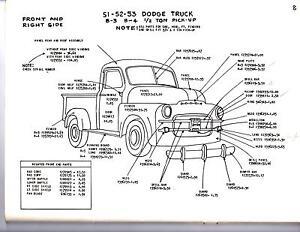 1948 1949 1950 DODGE TRUCK 12 34 1 TON EXTERIOR BODY