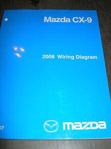 2008 MAZDA CX9 WIRING DIAGRAM SERVICE MANUAL SHOP REPAIR