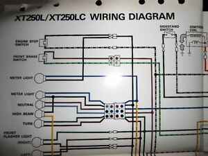 Yamaha OEM Factory Color Wiring Diagram Schematic 1984
