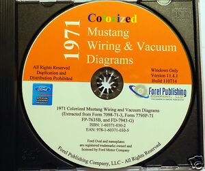 1971 Colorized Mustang Wiring Diagrams (CDROM) | eBay