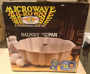 details about nordic ware gemstone microwave bundt fluted tube pan conventional oven tan cake