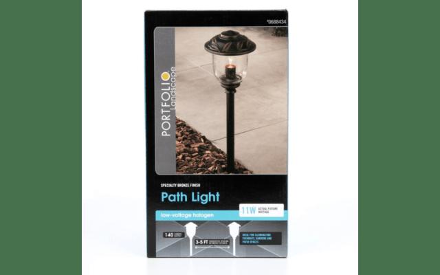 portfolio 11watt specialty bronze low voltage path light el0420pbr