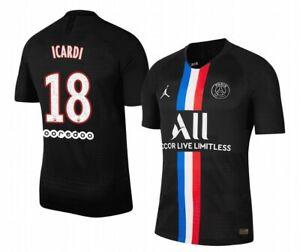 details zu trikot nike paris saint germain 2019 2020 4th icardi 18 black jordan fourth psg