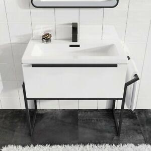 800mm wall hung bathroom vanity unit