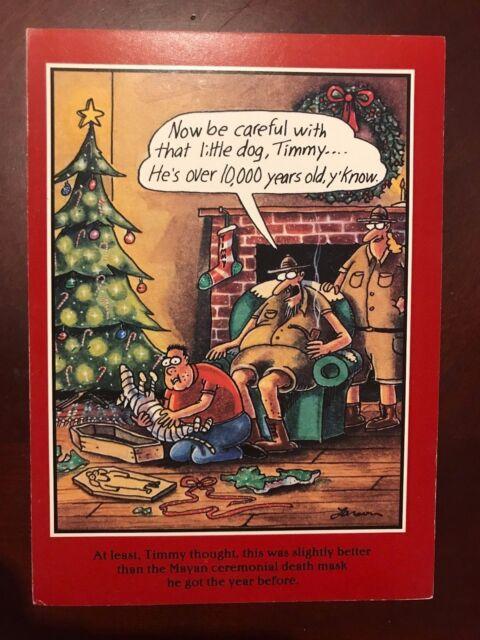 Vintage Xmas Greeting Card 1993 Old Stock Far Side Gary