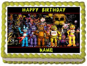 Five Nights At Freddy Essbare Kuchen Topper Bild Dekoration Ebay