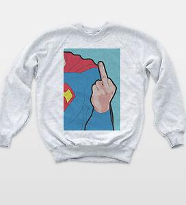 Super Man Pop Art Sweat Hipster Comic Vintage Tumblr Retro Film TV Sweatshirt