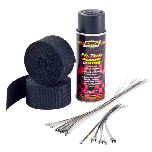 vehicle parts accessories dei motorcycle bike exhaust wrap kit black wrap with black ht silicone coating performance exhaust