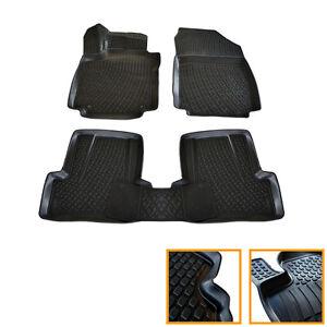 details about 4 rubber mats renault clio 4 2012 estate grandtour sol 3d tpe custom show original title