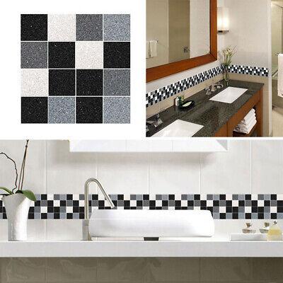 grey white mosaic tile stickers 100x100mm 4x4 inch kitchen bathroom wall decor ebay