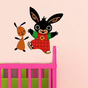 Bing Bunny And Flop Wall Decal Kids Boy Bedroom Decal Art Sticker