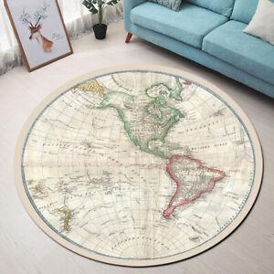 details sur vintage carte du monde area rugs chambre a coucher tapis salon rond tapis de sol afficher le titre d origine