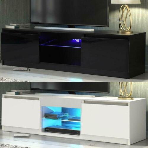 meubles tv solutions media moderne meuble tv 120 cm cabinet noir blanc brillant jeux cinema salon nouveau maison kuenzel awt com