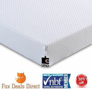 Image Is Loading Ley Uno Junior Hd Support Foam Mattress 3ft