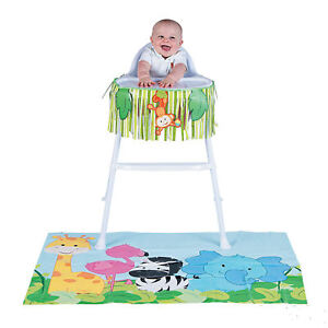 Baby 1st Birthday Zoo Animal High Chair Decorating Kit Safari Jungle Decoration 889070966078 Ebay
