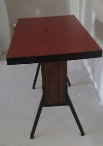 details sur ancienne table bistrot pied eiffel 1940 1950 gare sncf cuisine table de jeux