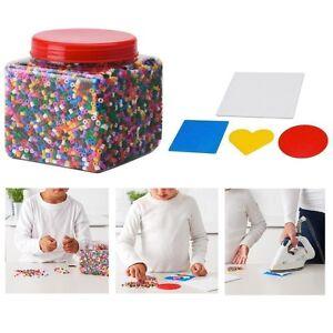 Dettagli Su Scatola Di Perline Colorate Pyssla Ikea Colori Assortiti Set Da 4 Formine