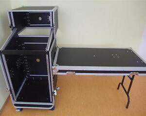 details zu 5 16u dj flight case con tavol all in one rack flightcase speciale combo case