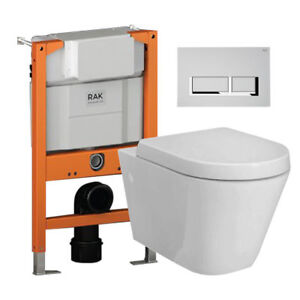 Image Is Loading All Rak Resort Rimless Wall Hung Pan Wc