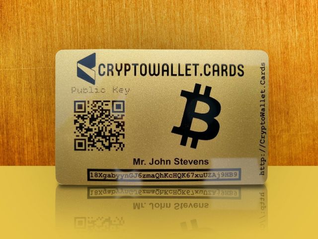S l1600 Personalized BTC BITCOIN Crypto Wallet