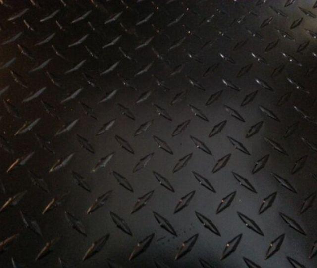 063 Matte Black Powdercoated Aluminum Diamond Plate Sheet