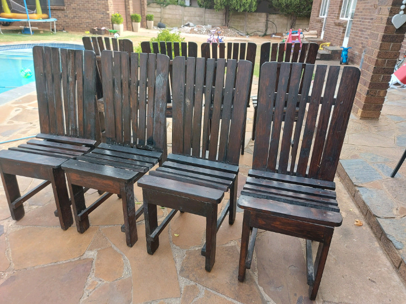 sturdy wooden patio chairs for sale uitenhage gumtree classifieds south africa 885653491