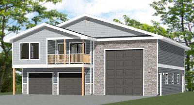 44x48 Apartment With 2 Car 1 Rv Garage Pdf Floorplan 645 Sqft Model 1h Ebay