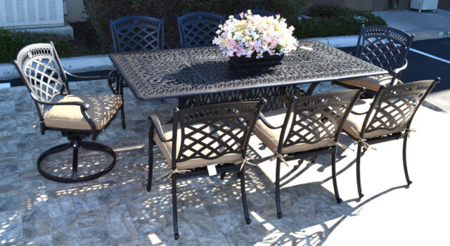 9 piece patio dining set cast aluminum st augustine chairs and elisabeth table