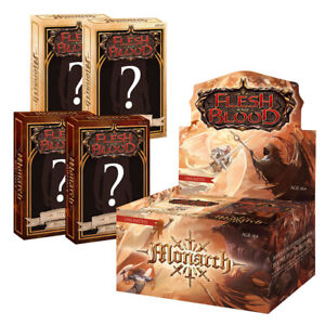 PRE-SALE: Flesh and Blood Monarch Unlimited Bundle: 1 Booster Box + 4 Blitz Deck