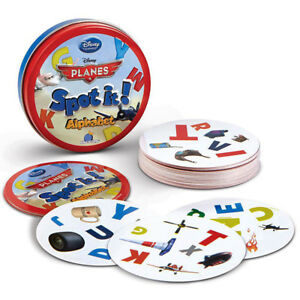 Disney Spot It Game Alphabet Learning Educational Toy Pictures Letters Matching