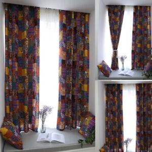 details sur boheme imprime rideau occultant coton lin salle a manger chambre fenetre rideaux